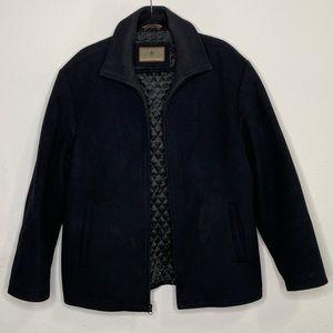 RAINFOREST Men's Wool Black Zip Up Jacket Size M